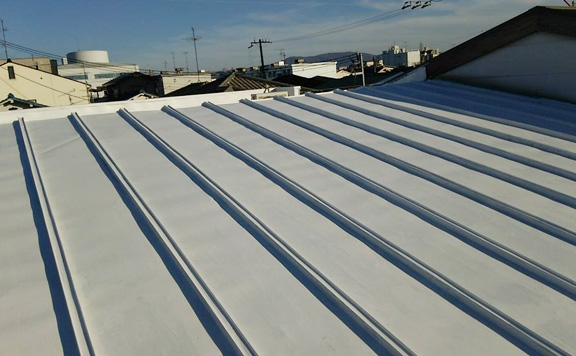 屋根遮熱塗装工事の事例