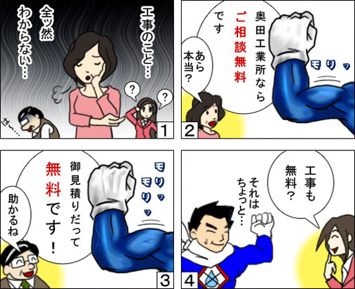 ご相談の流れの漫画
